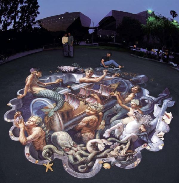 A brief pavement art history - Arte en el piso 3d ...