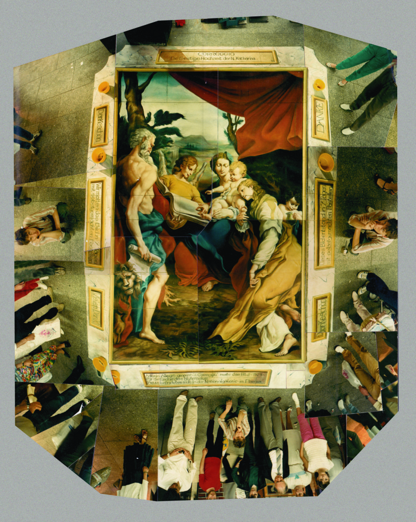 Wenner and Stader after Correggio. Madonna di San Gerolamo. Saarbrucken, Germany. Sometimes the public had a hard time believing the works were actually painted directly on the pavement. In this case, a drunken paperhanger smeared the picture several times trying to lift it up.