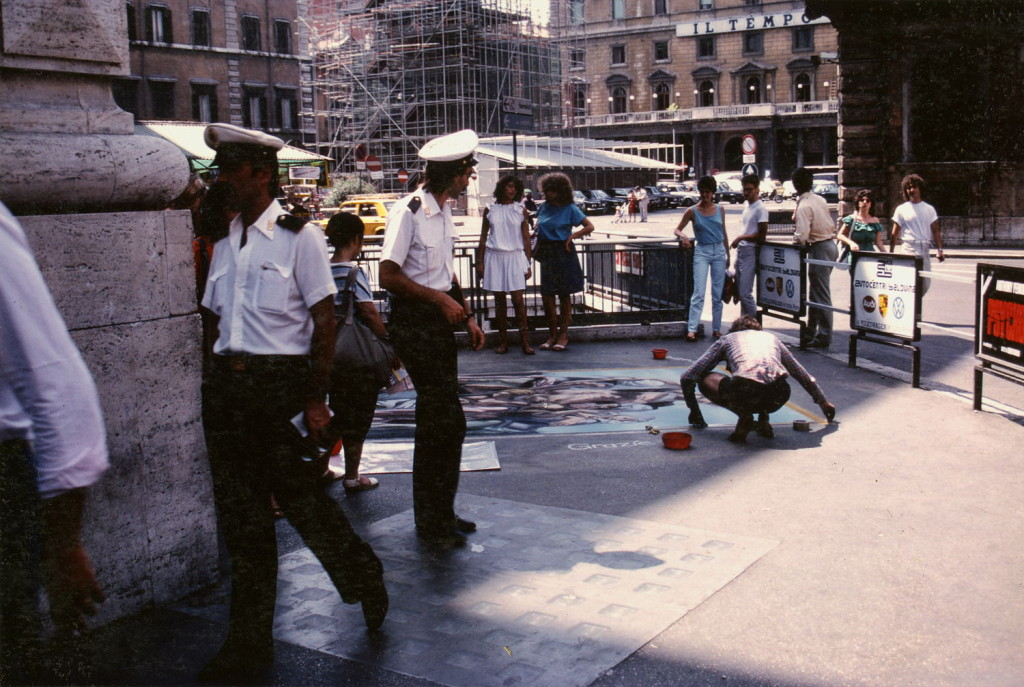 The vigili urbani. The vigili urbani were the branch of police who confronted street painters. The public would typically get involved and side with the artist.