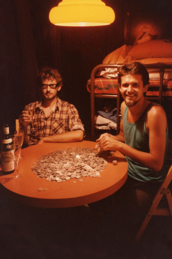 Counting Swiss change. After the Italian lire, Swiss coins were a dream. No matter how hard the work was, Wenner always felt a bit illicit counting the change at the end of the day, like a small-time crook.