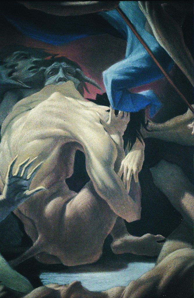 Wenner and Stader partially after Tiepolo. Detail of Fall of the Rebel Angels. Nuremberg, Germany. Wenner and Stader started with a work by Tiepolo, but improvised on the bottom part, creating their own fallen angels.
