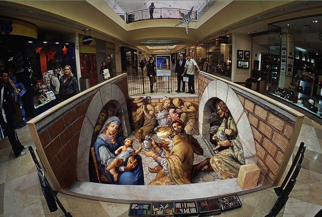 Nativity | Pavement Art Gallery 1 | Kurt Wenner - Master Artist ...