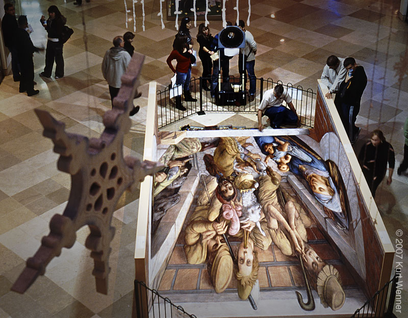 Nativity 2 (wrong angle) | New Work Gallery | Kurt Wenner - Master ...
