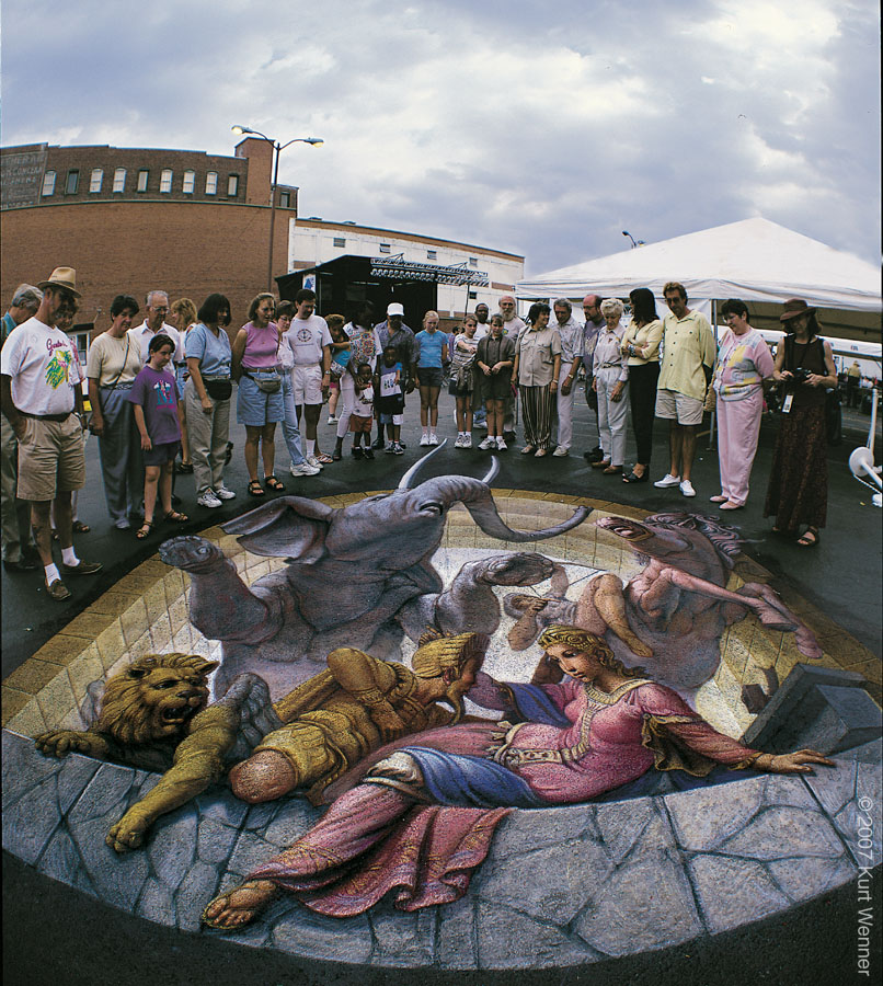 Pinturas hiperrealistas en plena calle (Kurt Wenner) Parte 1