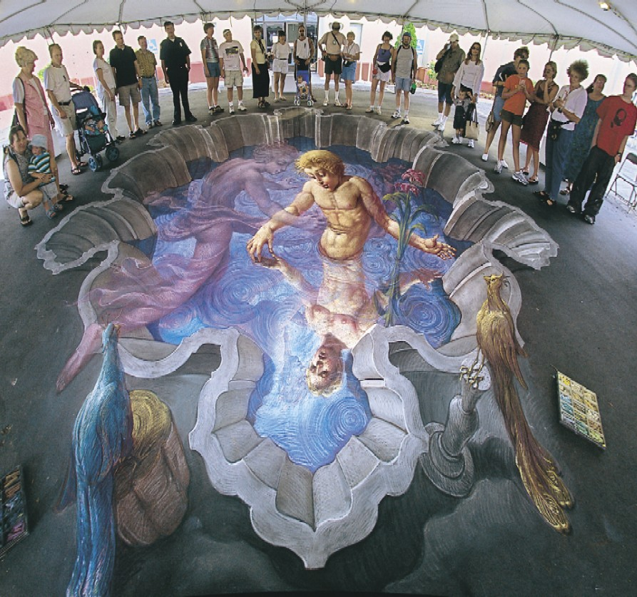 3d illusion street painting unfinished8 for 3d street painting mural art