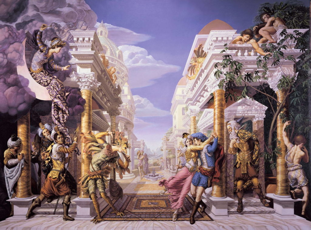 Classical painting by Kurt Wenner Magic Flute