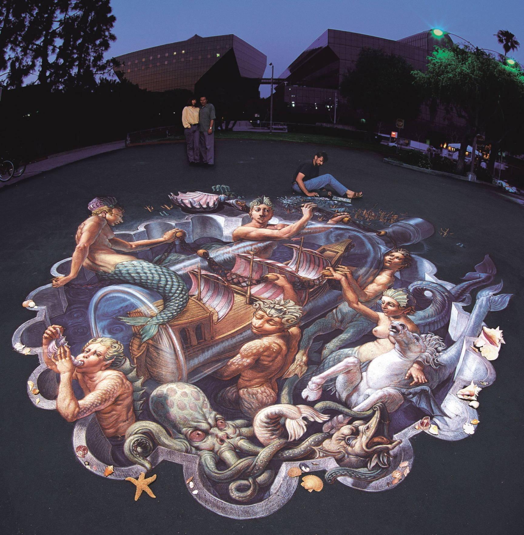 Absolute Wenner 3d Pavement art 3D street art Kurt Wenner