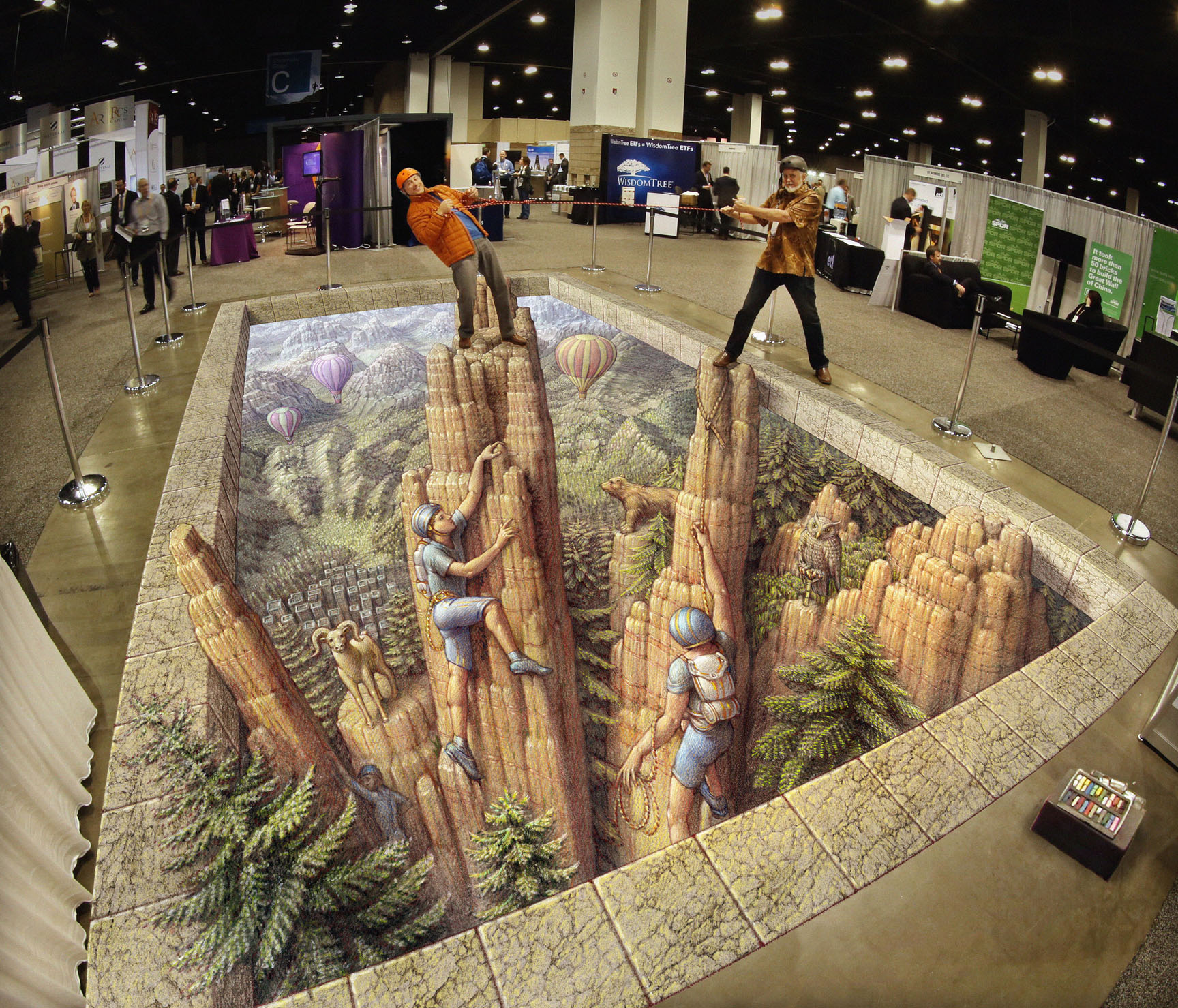 3d Pavement art 3D street art Kurt Wenner garden of the gods