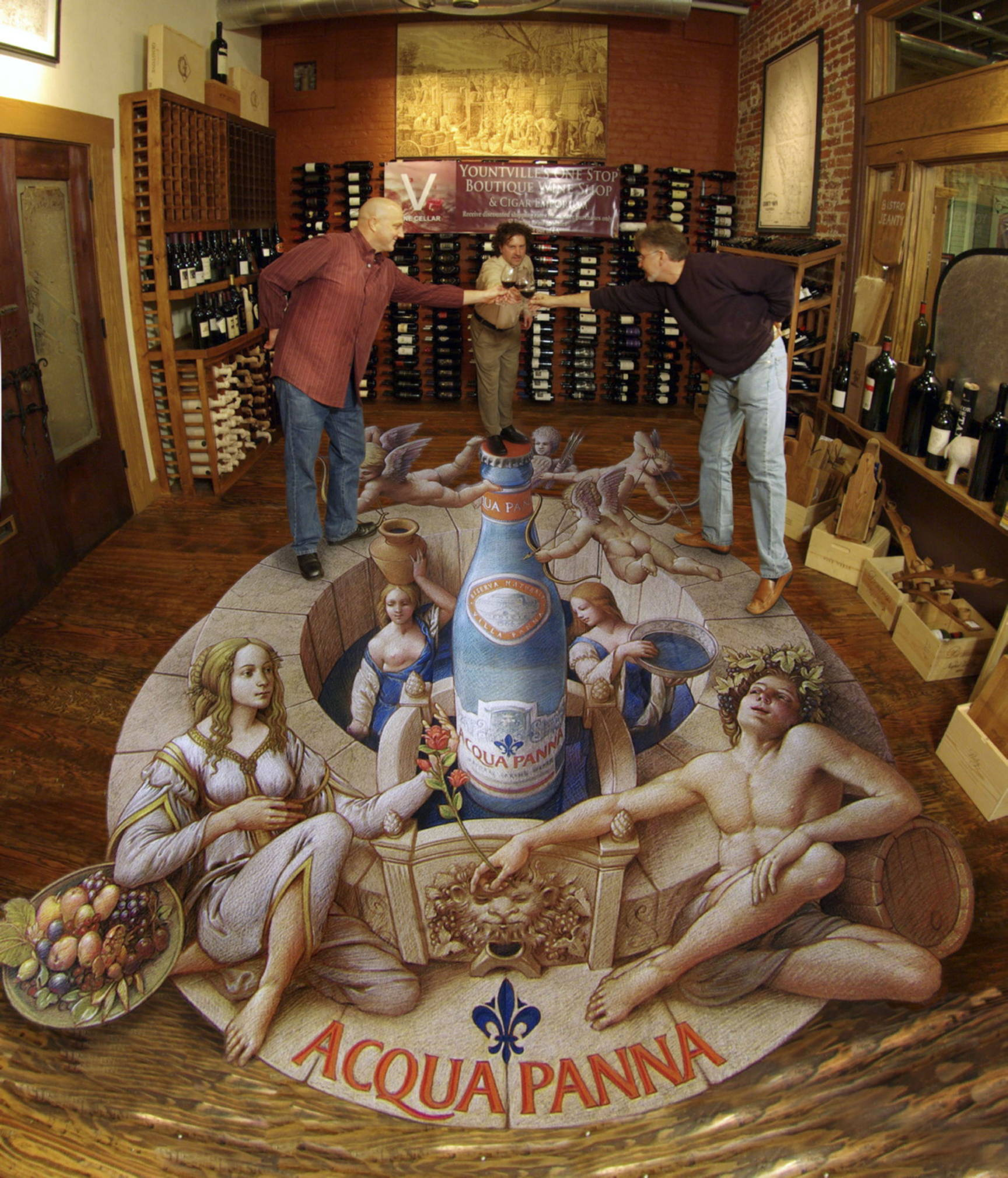 3d Pavement art 3D street art Kurt Wenner water to wine