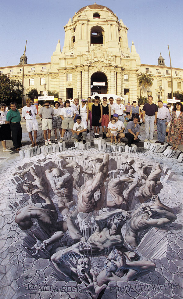 Last Judgement by Kurt Wenner 3d Pavement art 3D street art Kurt Wenner