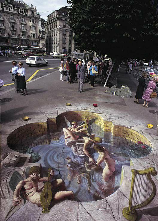 Kurt Wenner 3D artist inventor of 3d street art