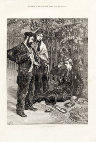 19th century pavement artist